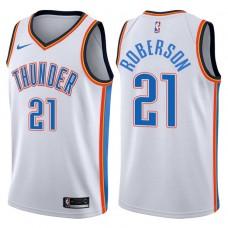 2017-18 Season Andre Roberson Oklahoma City Thunder #21 Association White Jersey