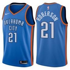 2017-18 Season Andre Roberson Oklahoma City Thunder #21 Icon Blue Jersey