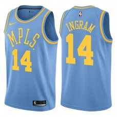 2017-18 Brandon Ingram Los Angeles Lakers #14 Blue Hardwood Classic Edition Swingman Jersey