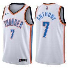 2017-18 Season Carmelo Anthony Oklahoma City Thunder #7 Association White Jersey