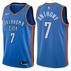 2017-18 Season Carmelo Anthony Oklahoma City Thunder #7 Icon Royal Jersey