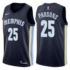 2017-18 Season Chandler Parsons Memphis Grizzlies #25 Icon Navy Swingman Jersey