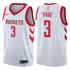 2017-18 Season Chris Paul Houston Rockets #3 Association White Jersey