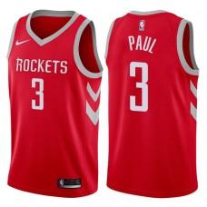 2017-18 Season Chris Paul Houston Rockets #3 Icon Red Jersey