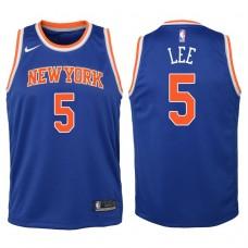 Youth 2017-18 Season Courtney Lee New York Knicks #5 Icon Blue Swingman Jersey