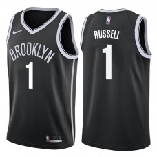 2017-18 Season D'Angelo Russell Brooklyn Nets #1 Icon Black Swingman Jersey