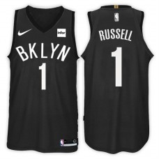 2017-18 Season D'Angelo Russell Brooklyn Nets #1 Statement Black Swingman Jersey
