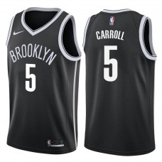 2017-18 Season DeMarre Carroll Brooklyn Nets #5 Icon Black Swingman Jersey