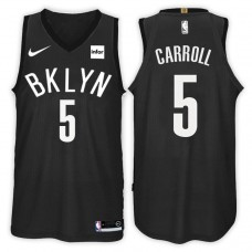 2017-18 Season DeMarre Carroll Brooklyn Nets #5 Statement Black Swingman Jersey