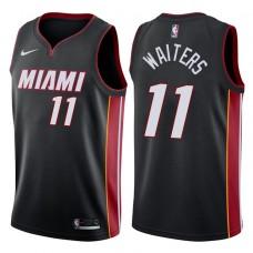 2017-18 Season Dion Waiters Miami Heat #11 Icon Black Swingman Jersey