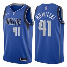 2017-18 Season Dirk Nowitzki Dallas Mavericks #41 Icon Royal Swingman Jersey