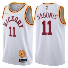 2017-18 Domantas Sabonis Indiana Pacers #11 White Hardwood Classic Edition Swingman Jersey