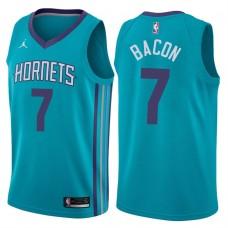 2017-18 Season Dwayne Bacon Charlotte Hornets #7 Icon Teal Swingman Jersey