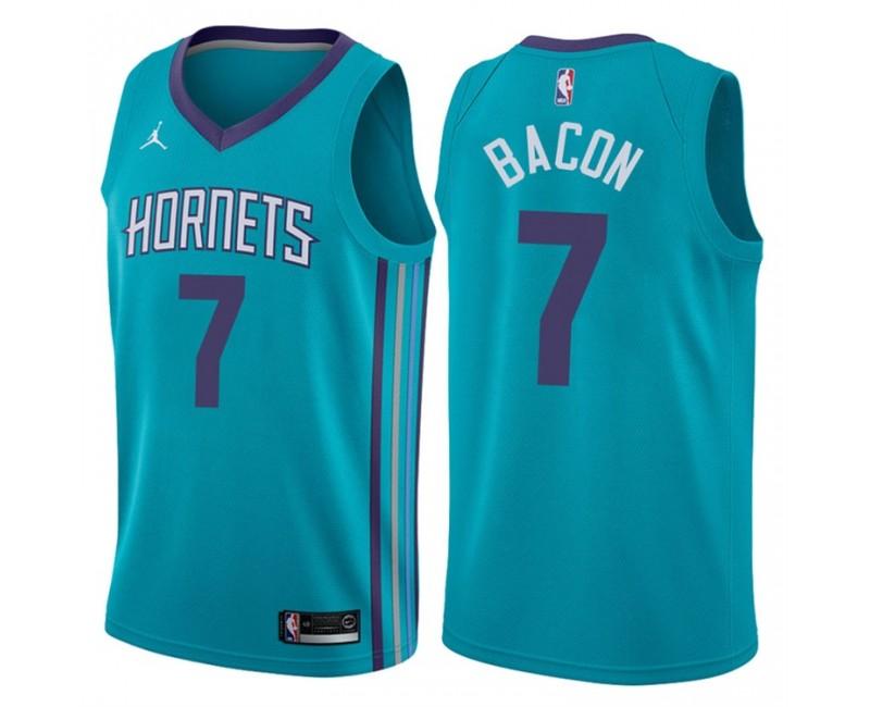 2017-18 Season Dwayne Bacon Charlotte Hornets #7 Icon Teal ...