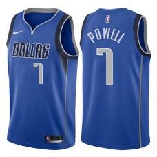 2017-18 Season Dwight Powell Dallas Mavericks #7 Icon Royal Swingman Jersey