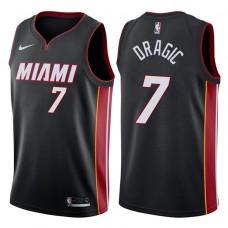2017-18 Season Goran Dragic Miami Heat #7 Icon Black Swingman Jersey