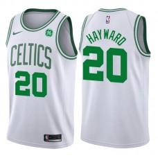 2017-18 Season Gordon Hayward Boston Celtics #20 Association GE White Jersey