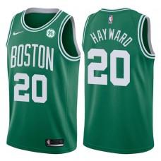 2017-18 Season Gordon Hayward Boston Celtics #20 Icon GE Green Jersey