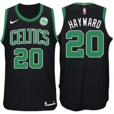 2017-18 Season Gordon Hayward Boston Celtics #20 Statement GE Black Jersey