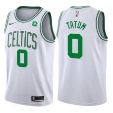2017-18 Season Jayson Tatum Boston Celtics #0 Association GE White Jersey