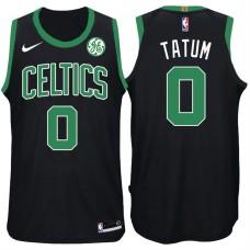 2017-18 Season Jayson Tatum Boston Celtics #0 Statement GE Black Jersey