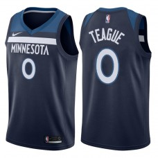 2017-18 Season Jeff Teague Minnesota Timberwolves #0 Icon Navy Swingman Jersey