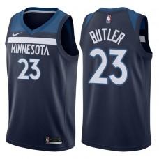 2017-18 Season Jimmy Butler Minnesota Timberwolves #23 Icon Navy Swingman Jersey