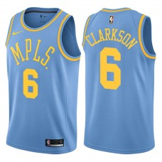 2017-18 Jordan Clarkson Los Angeles Lakers #6 Blue Hardwood Classic Edition Swingman Jersey