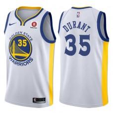 2017-18 Season Kevin Durant Golden State Warriors #35 Association Rakuten White Jersey