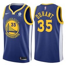 2017-18 Season Kevin Durant Golden State Warriors #35 Icon Rakuten Royal Jersey