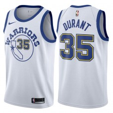 2017-18 Kevin Durant Golden State Warriors #35 White Hardwood Classic Edition Swingman Jersey