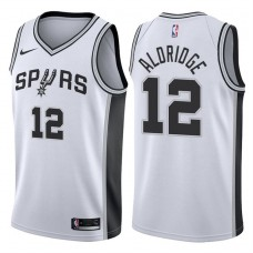 2017-18 Season LaMarcus Aldridge San Antonio Spurs #12 Association White Jersey