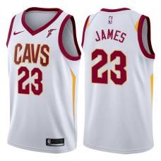 2017-18 Season LeBron James Cleveland Cavaliers #23 Association White Jersey