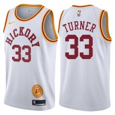 2017-18 Myles Turner Indiana Pacers #33 White Hardwood Classic Edition Swingman Jersey