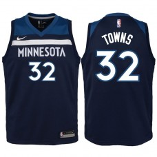 Youth 2017-18 Season Karl-Anthony Towns Minnesota Timberwolves #32 Icon Blue Swingman Jersey