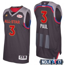 2017 All-Star Clippers Chris Paul #3 Western Conference Charcoal Jersey