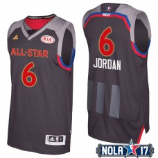 2017 All-Star Clippers DeAndre Jordan #6 Western Conference Charcoal Jersey