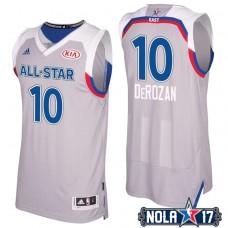 2017 All-Star Raptors DeMar DeRozan #10 Eastern Conference Gray Jersey