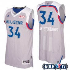 2017 All-Star Bucks Giannis Antetokounmpo #34 Eastern Conference Gray Jersey