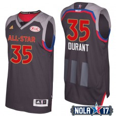 2017 All-Star Warriors Kevin Durant #35 Western Conference Charcoal Jersey