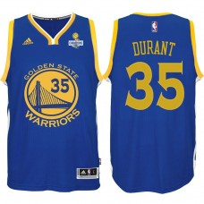 Kevin Durant Golden State Warriors #35 NBA 2017 Finals Champions Patched Royal New Swingman Jersey