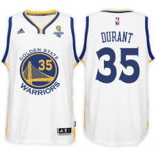 Kevin Durant Golden State Warriors #35 NBA 2017 Finals Champions Patched White New Swingman Jersey