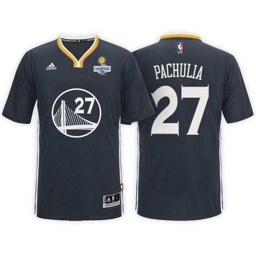 Zaza Pachulia Golden State Warriors #27 NBA 2017 Finals Champions Patched Black New Swingman Jersey