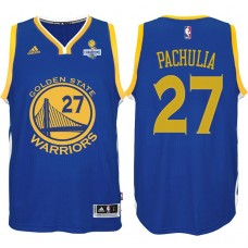 Zaza Pachulia Golden State Warriors #27 NBA 2017 Finals Champions Patched Royal New Swingman Jersey
