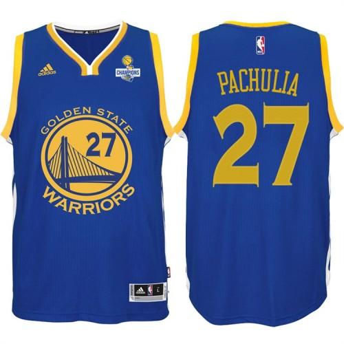 Zaza Pachulia Golden State Warriors #27 NBA 2017 Finals Champions Patched Royal New Swingman Jersey