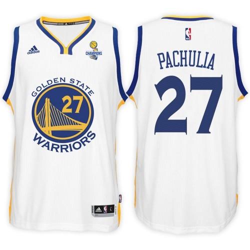Zaza Pachulia Golden State Warriors #27 NBA 2017 Finals Champions Patched White New Swingman Jersey
