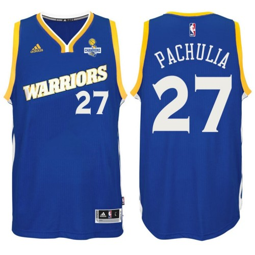 Zaza Pachulia Golden State Warriors #27 NBA 2017 Finals Champions Patched Crossover New Swingman Jersey