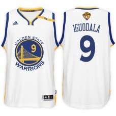 2017 NBA The Finals Patch Andre Iguodala Golden State Warriors #9 Home White New Swingman Jersey