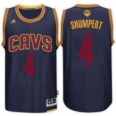 2017 NBA The Finals Patch Iman Shumpert Cleveland Cavaliers #4 Alternate Navy New Swingman Jersey