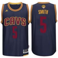 2017 NBA The Finals Patch J.R. Smith Cleveland Cavaliers #5 Alternate Navy New Swingman Jersey